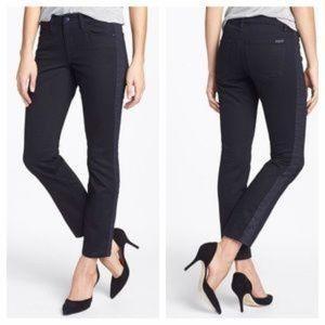 Joes Jeans Tux Stripe Pia Skinny Ankle Dk Blue 28